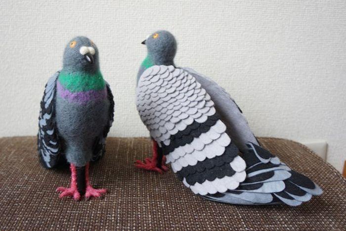 Туфли в виде голубей (6 фото)