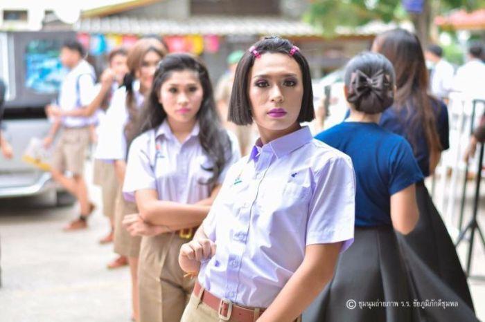 Школьное мероприятие в тайской школе (7 фото)