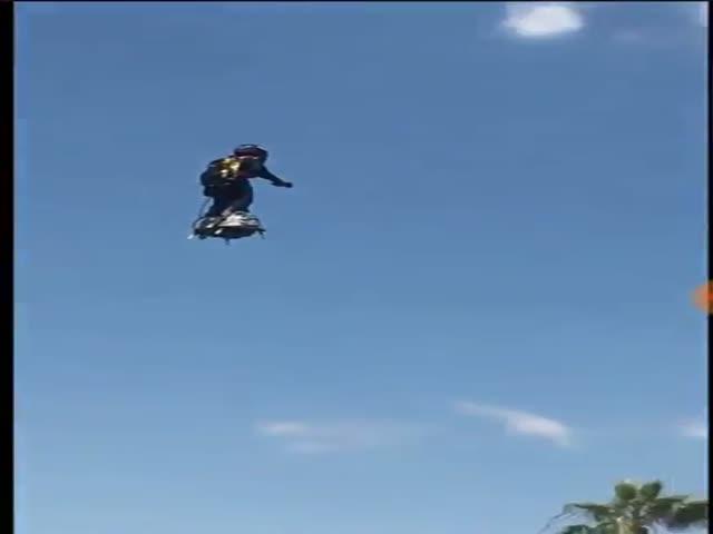 Испытания летающего скетборда