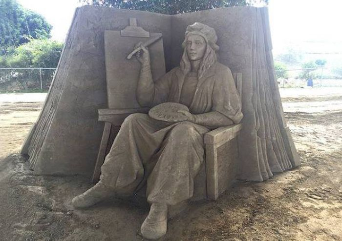 Песочные скульптуры Тосихико Хосаки (22 фото)