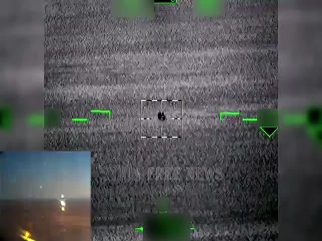 Вертолет Ка-52 «Аллигатор» уничтожает технику ИГИЛ