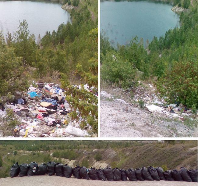 Чисто МЭН вывез 28 мешков мусора с карьера города Копейск (2 фото + видео)