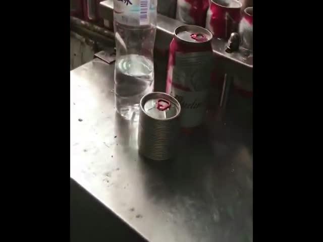 Китайский подпольный цех по производству поддельного пива