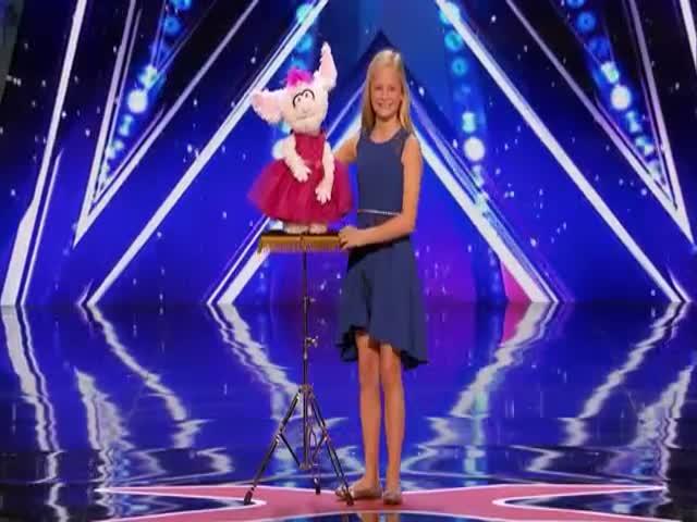 12-летняя чревовещатель Дарси Линн покорила публику шоу America's Got Talent