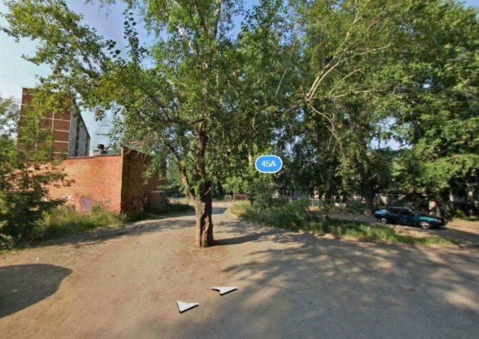 В Екатеринбурге старый пень посреди дороги закатали в асфальт (3 фото)
