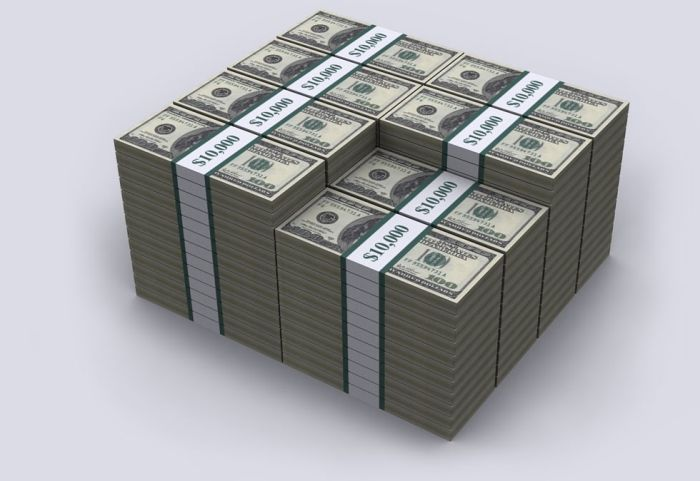 $20 трлн госдолга США в стодолларовых купюрах (8 картинок)