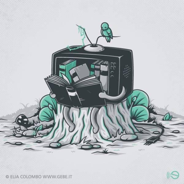 Карикатуры на злобу дня (15 рисунков)