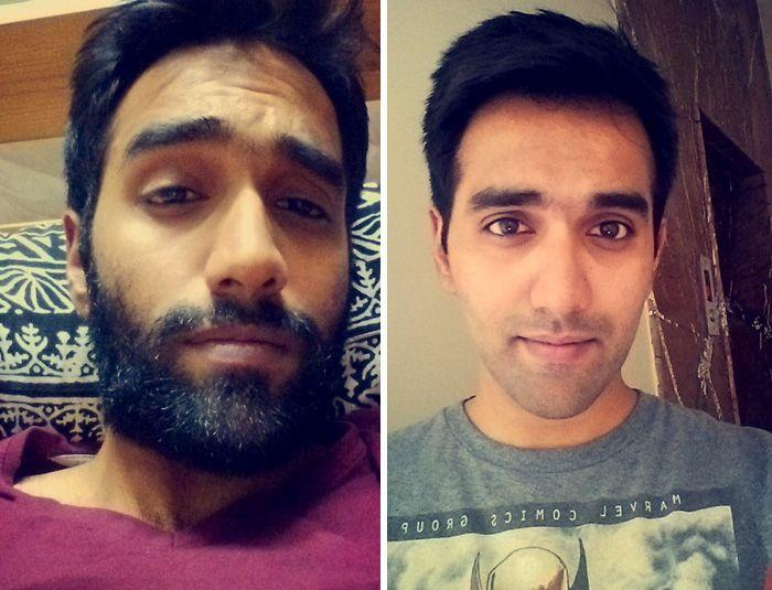 Мужчины сбривают бороду (22 фото)