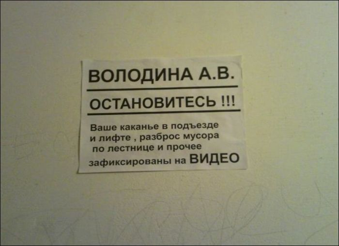 Прикольные надписи и объявления (35 фото)