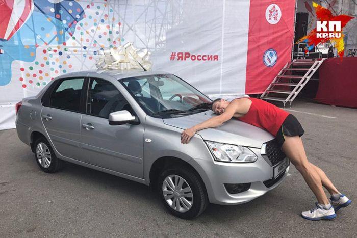 Нижегородский спортсмен Николай Бурда выиграл автомобиль в пятый раз (2 фото)