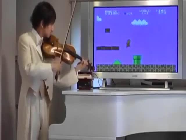 Озвучка игры «Супер Марио» с помощью скрипки