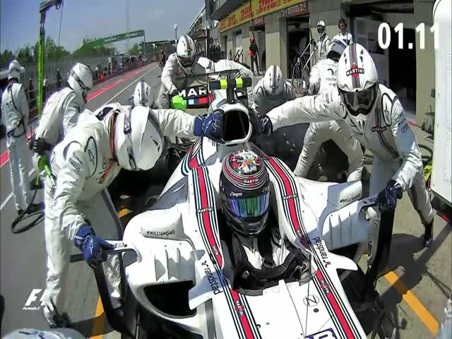 Команда Williams произвела самый быстрый пит-стоп сезона