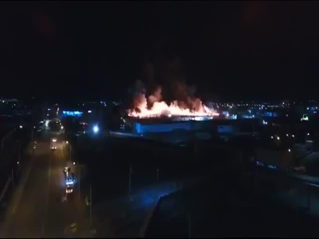 Пожар на крупнейшем в мире кашемировом заводе «Гоби» в Улан-Баторе