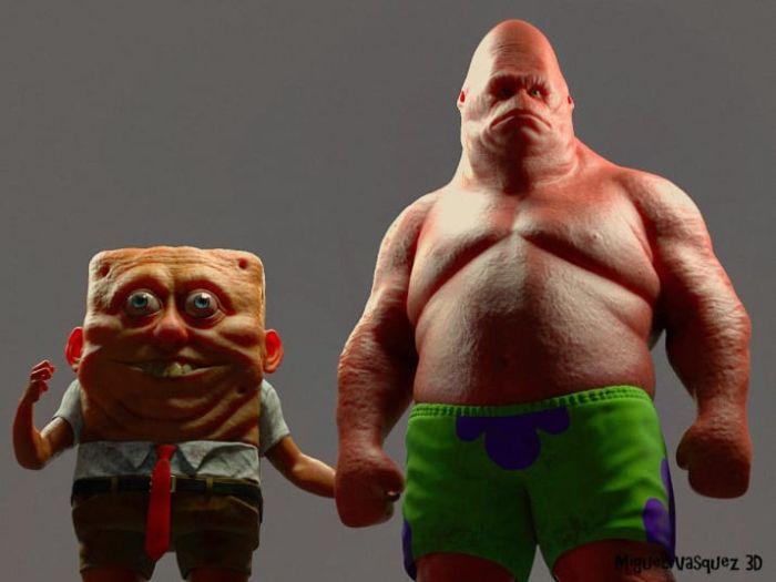 Спанч Боб и Патрик в 3D (5 фото)