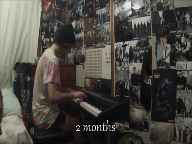 Прогресс в обучении игры на пианино