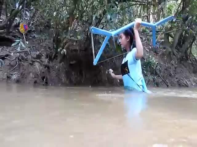 Охота с помощью самодельного лука