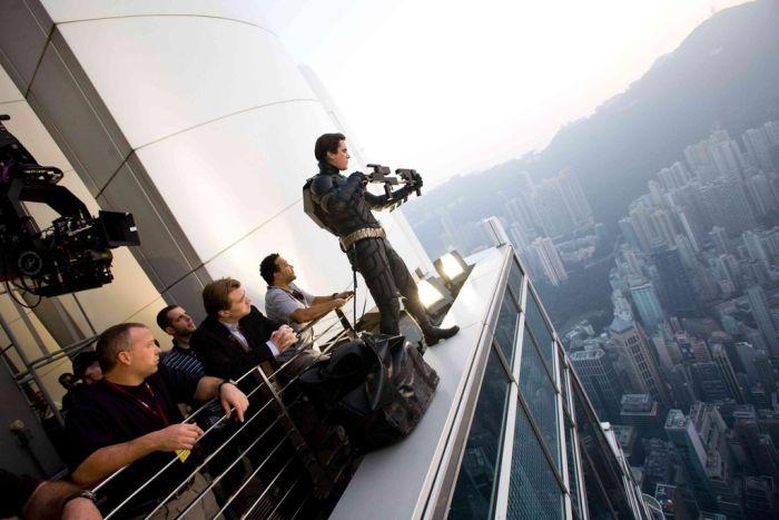 Редкие фото со съемочных площадок известных фильмов (15 фото)