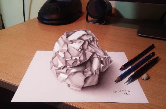 Трехмерные рисунки Николы Кулича (25 фото)