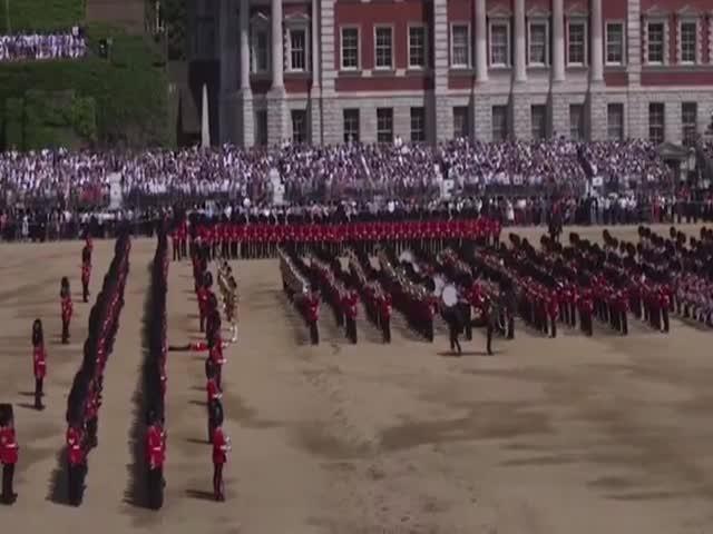 Королевский гвардеец не выдержал жары