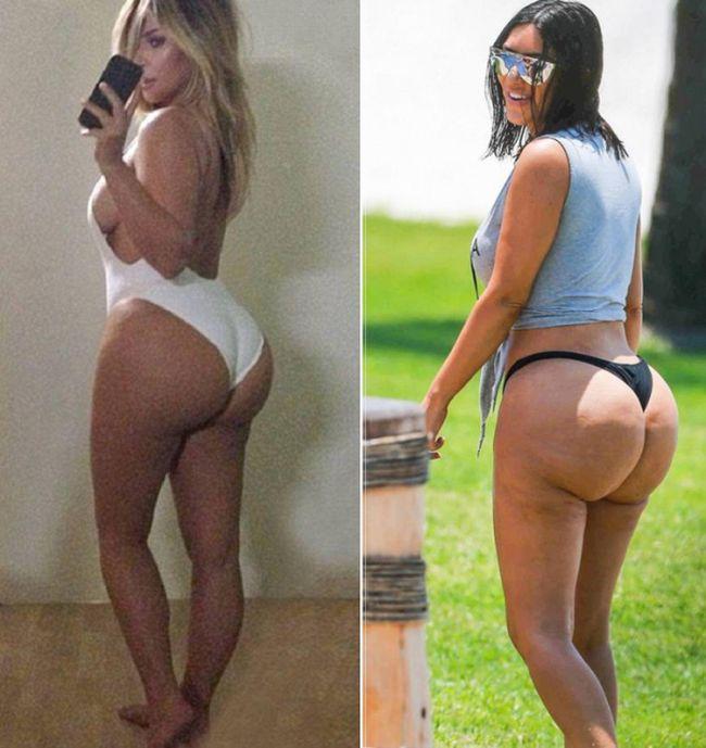 Ким Кардашян утверждает, что папарацци использовали фотошоп, чтобы подчеркнуть ее недостатки (4 фото)