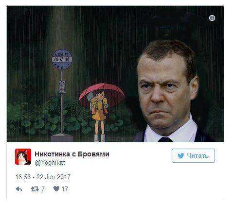 Злой Медведев и Путин под дождем (15 скриншотов)