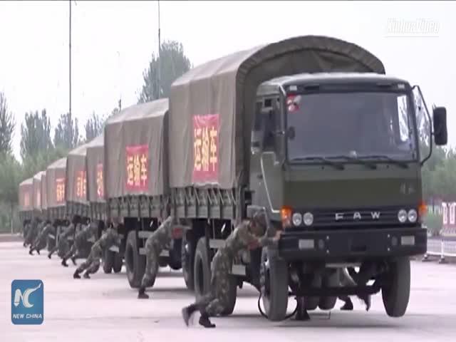 Быстрый способ развернуть колонну грузовиков