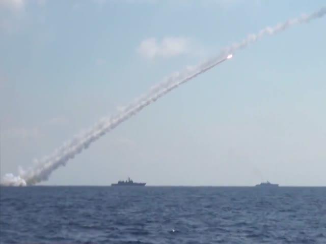ВМФ России нанесли удар по позициям ИГИЛ