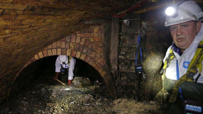 Борьба с «жирбергами» в Лондоне (4 фото)
