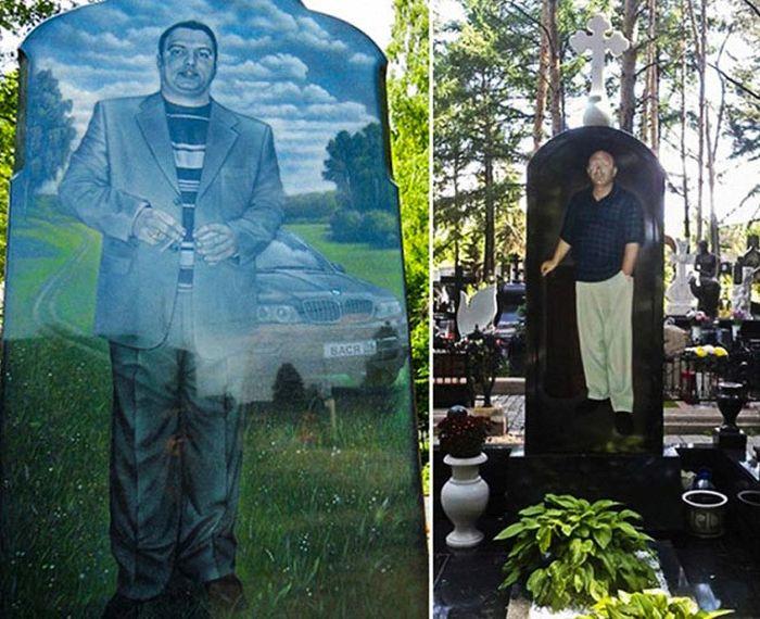 Необычные памятники на могилах криминальных авторитетов (16 фото)