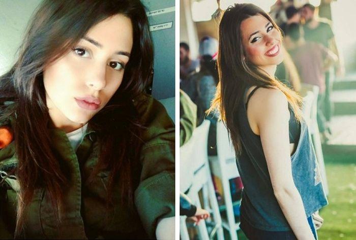 Прекрасные девушки в израильской армии (18 фото)