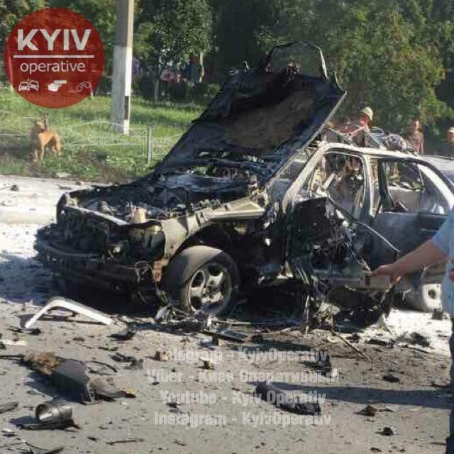 В Киеве в результате теракта погиб чиновник Минобороны (3 фото + видео)