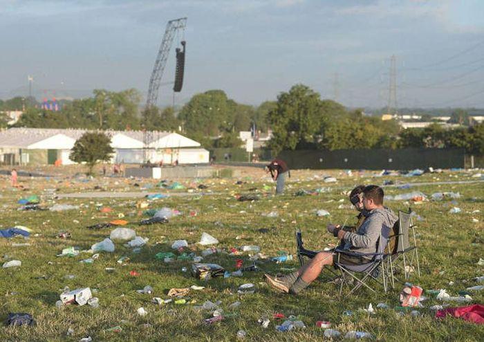 Что оставил после себя музыкальный фестиваль Гластонбери (21 фото)