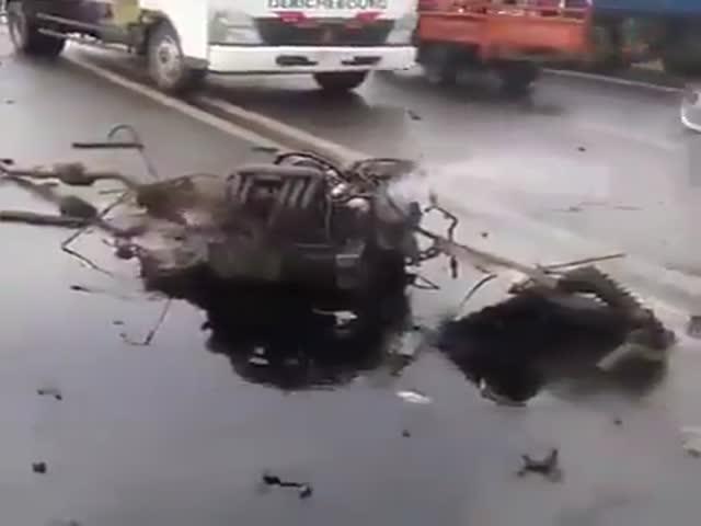 Двигатель продолжил работать за пределами машины