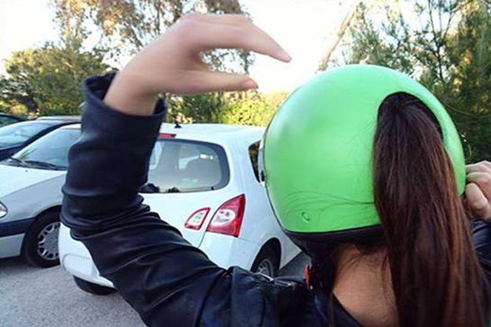 Необычный мотоциклетный шлем из Японии (3 фото)