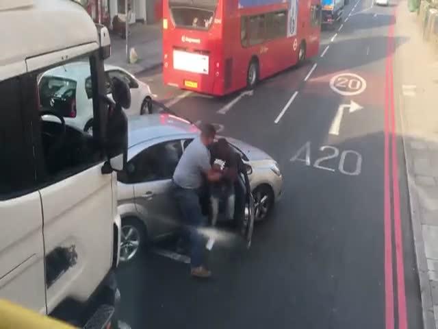 Драка водителей в Лондоне