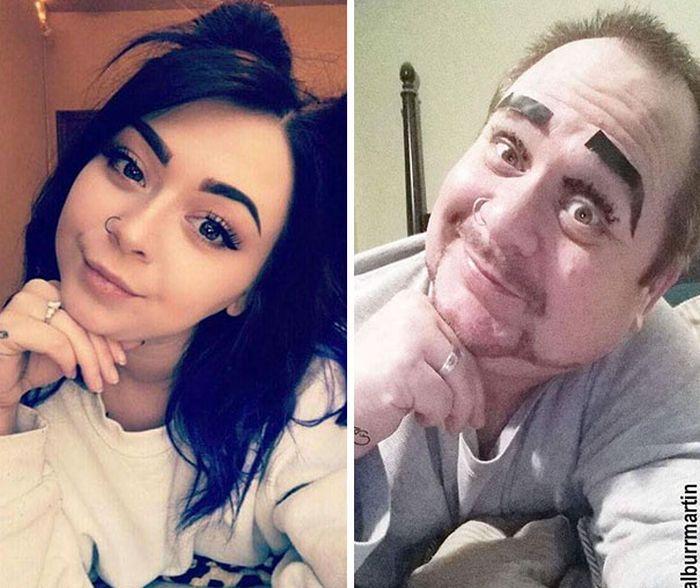 Отец троллит дочь в социальных сетях. Часть 2 (16 фото)