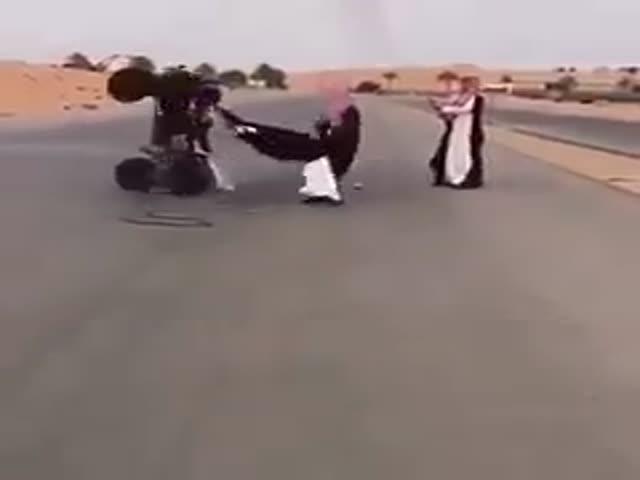 Необычное развлечение с квадроциклом