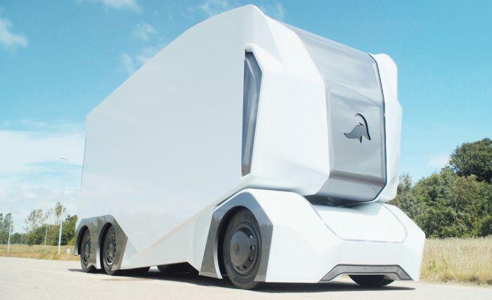 Самоуправляемый грузовик T-Pod, в котором нет кабины (5 фото)