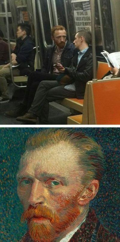 Двойники знаменитостей в общественном транспорте (21 фото)