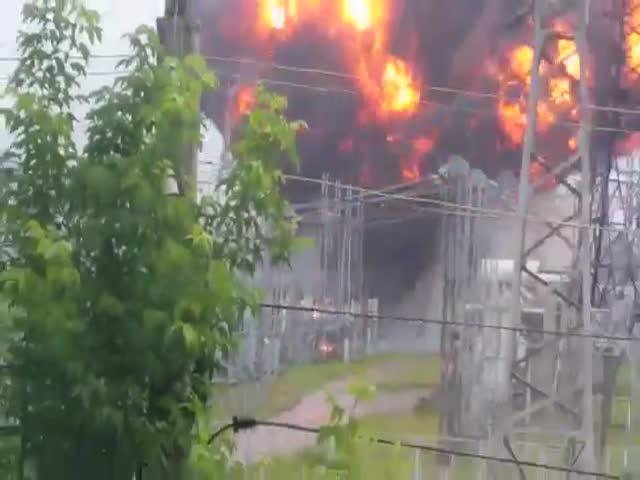 Взрыв на электроподстанции в Томске