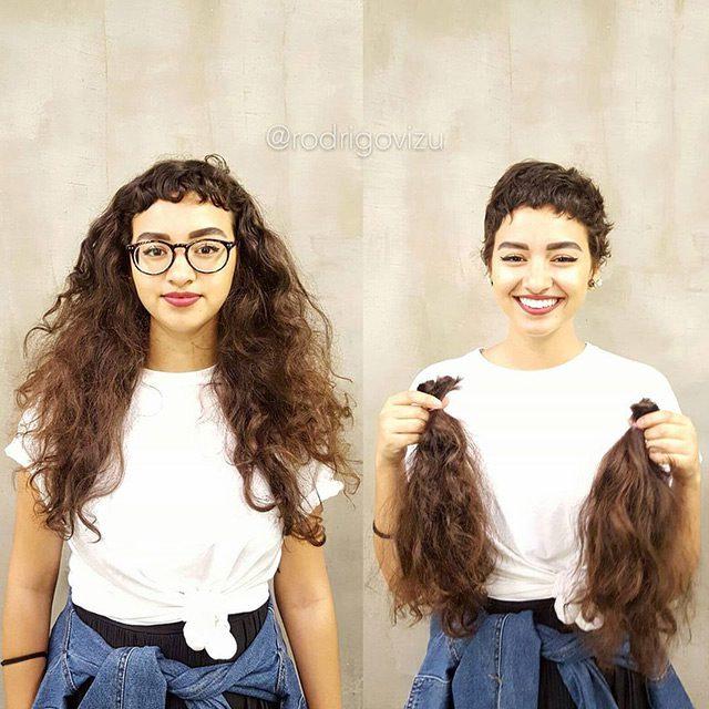Девушки постриглись (20 фото)