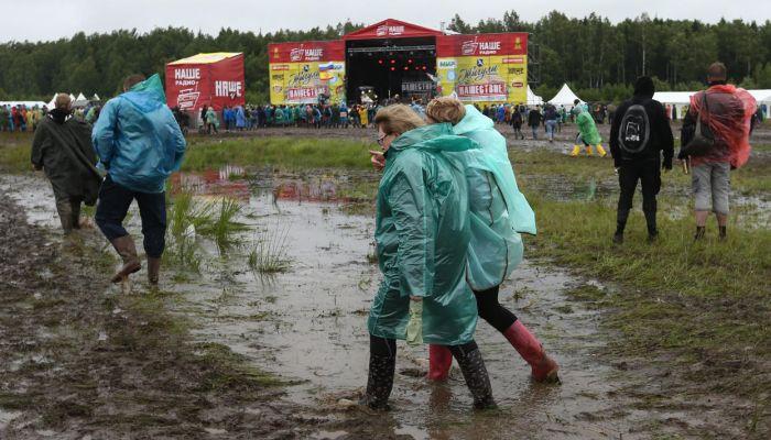 """Непогода не испортила фестиваль """"Нашествие"""" (21 фото + 4 видео)"""