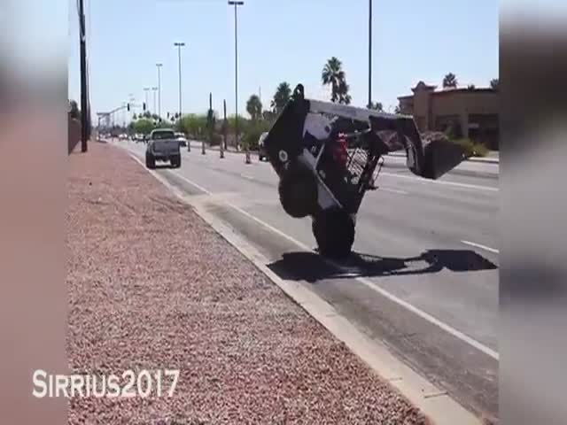 Трюки от водителей спецтехники