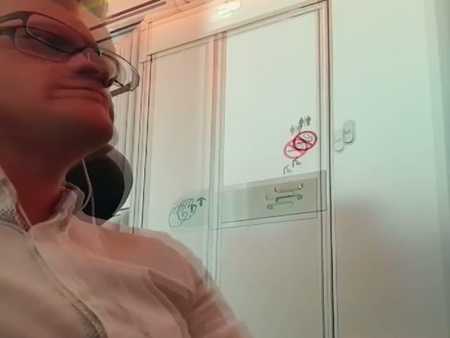 Разоблачение пары, уединившейся в туалете самолета