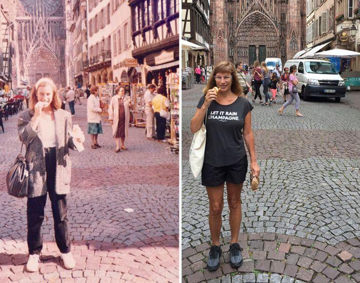 Американка воспроизвела фото 30-летней давности (9 фото)