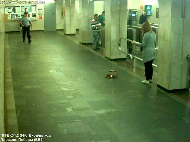 Возгорание вейпа в минском метро