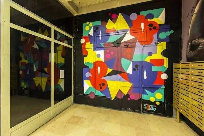 Парижское общежитие стало выставкой произведений уличного искусства (15 фото)