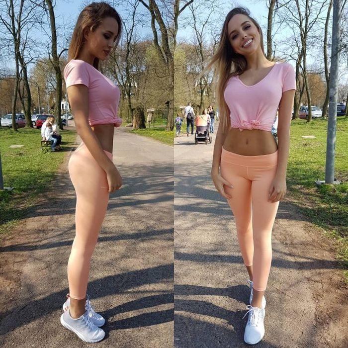 Девушки в облегающих штанишках (28 фото)