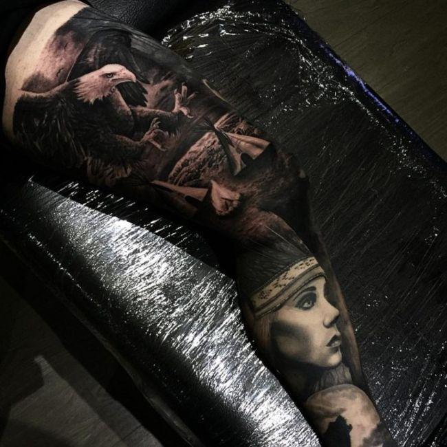 Реалистичные татуировки от Дрю Апиктура (40 фото)