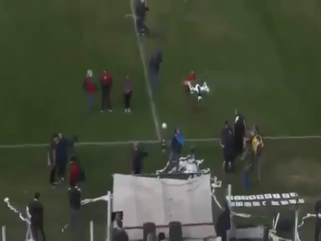 Почему не стоит запускать дроны над стадионом